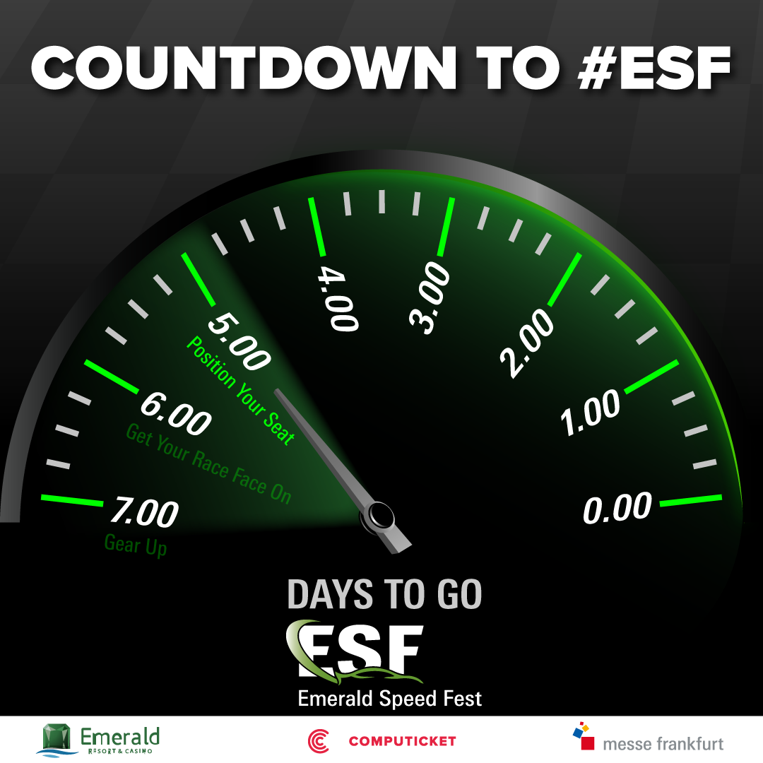 The countdown to Emerald Speed Fest has begun